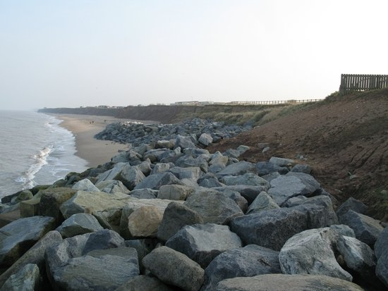 Rock armour has also been placed to the south of Withernsea.