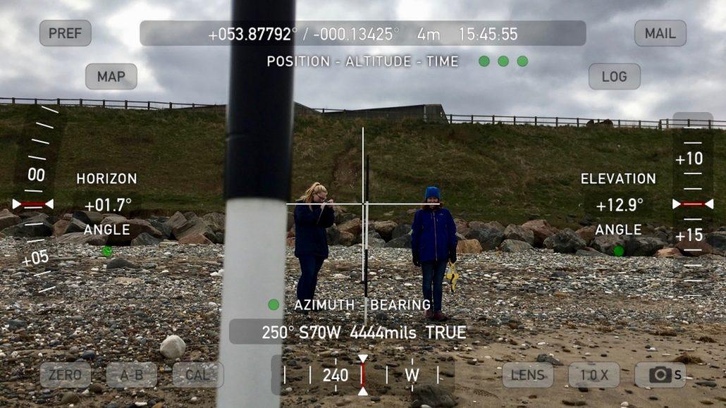 Measuring beach profiles