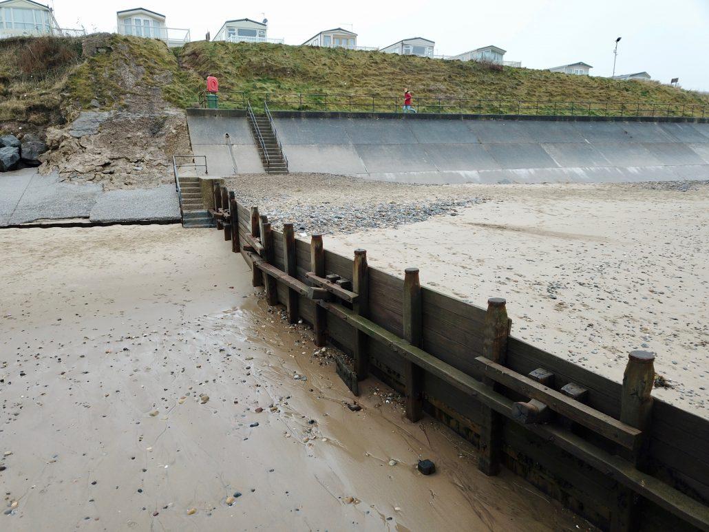 Groyne and sea wall