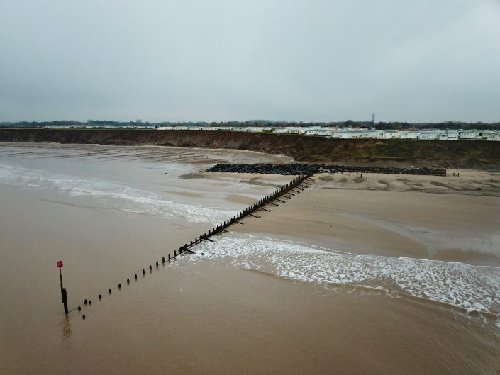 Terminal groyne and rock armour at Hornsea