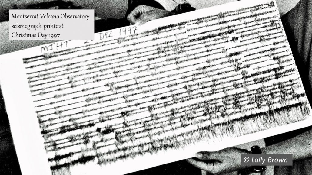 MVO Seismograph printout Dec 1997