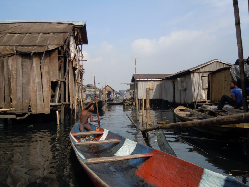 Makoko, a squatter settlement in Lagos