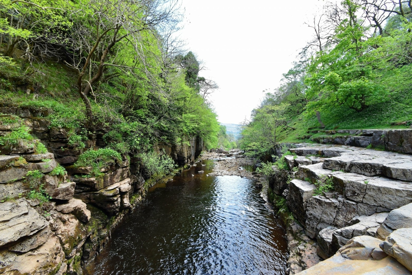 A gorge on the River Swale, Yorkshire Dales.