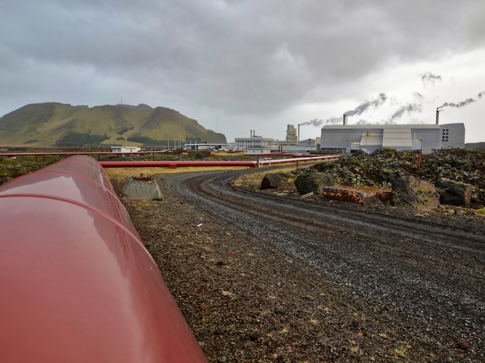 Geothermal energy power station in Iceland