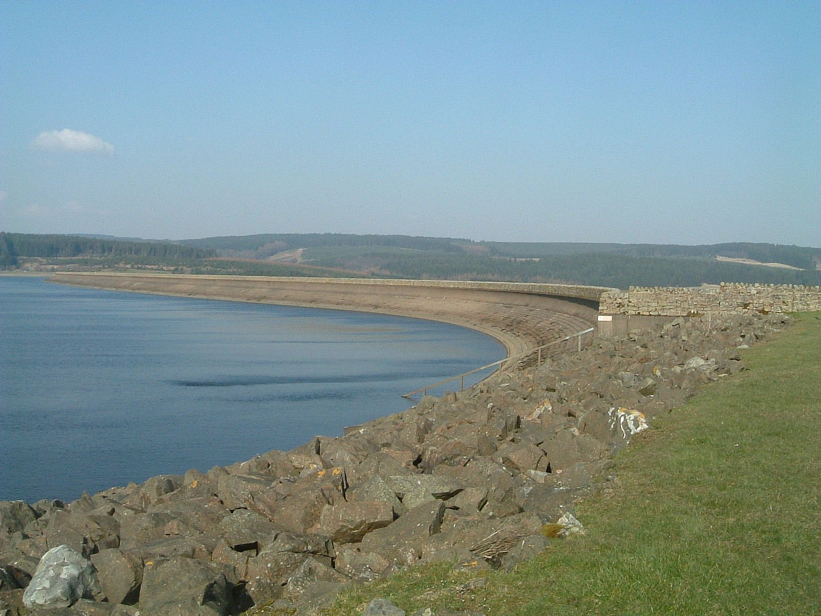 Kielder Dam and reservoir