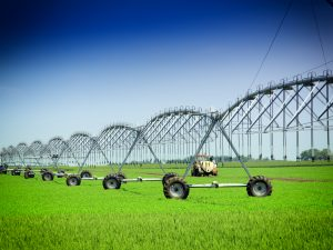Crop Irrigation using large scale technology