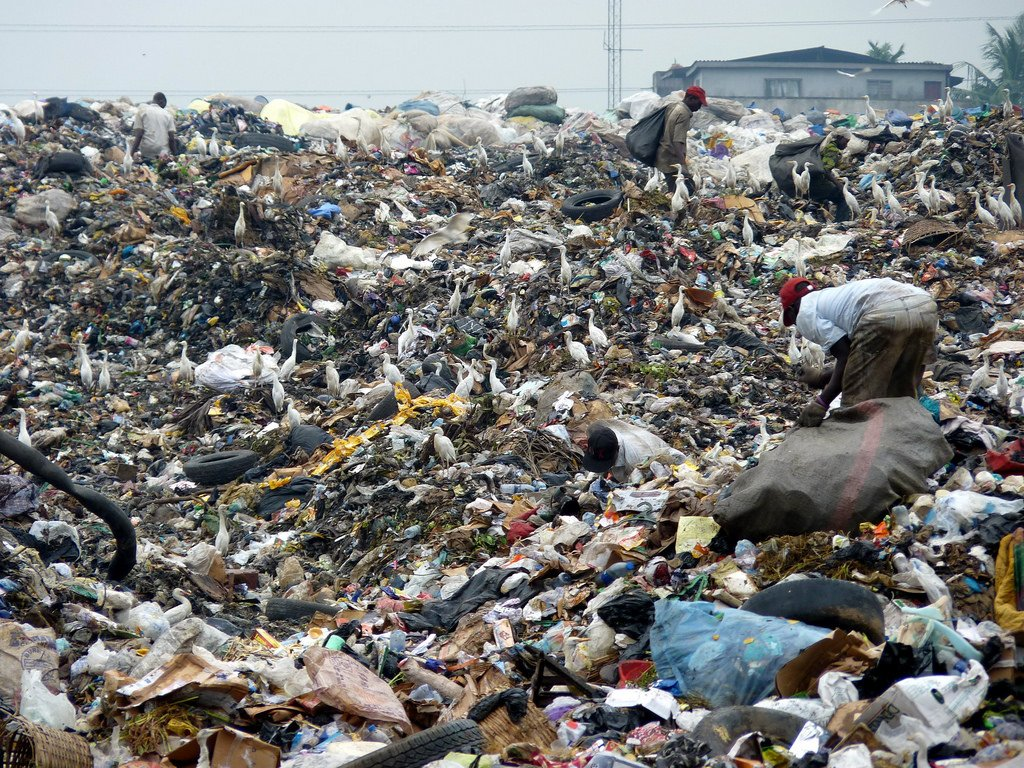 People recycling in Lagos