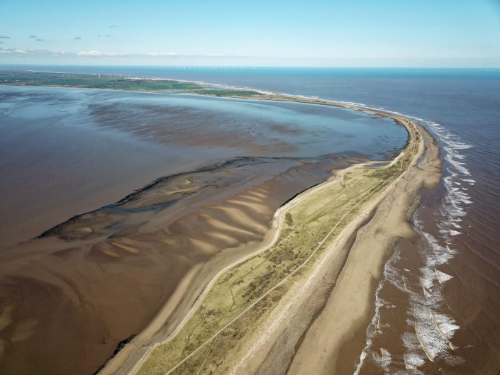 Spurn Point - view north