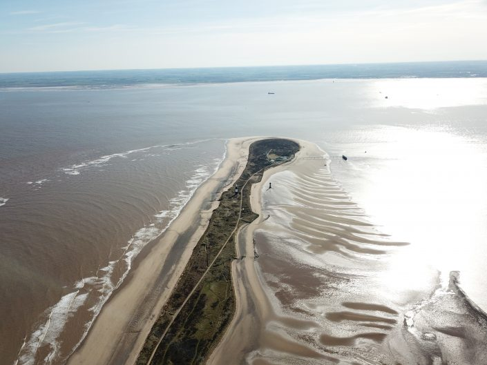 Spurn Point - view south