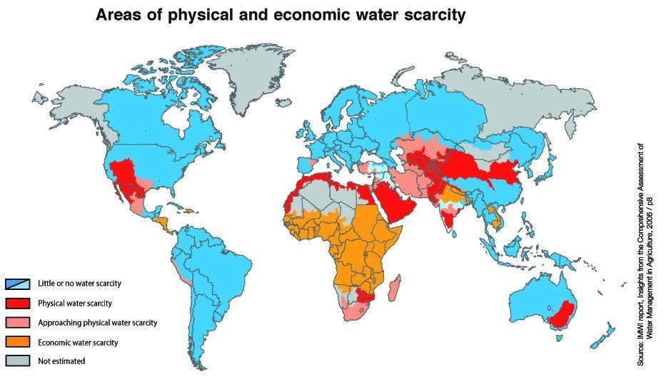 World water scarcity map