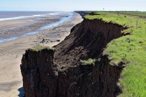 Coastal erosion at Cowden