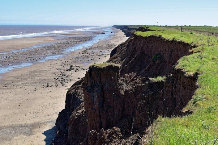 Coastal erosion at Cowden