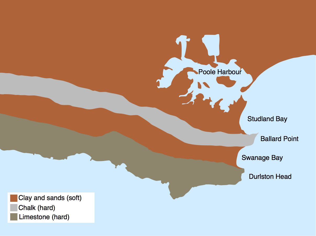 Discordant and concordant coasts in Dorset