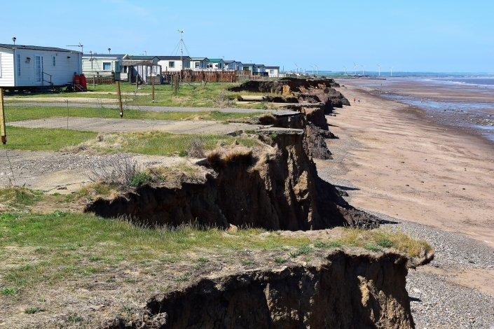 Coastal erosion at Skipsea