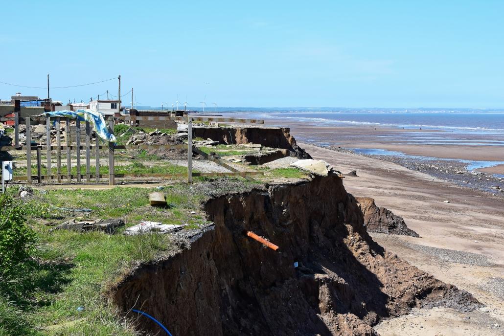 Coastal erosion at Ulrome