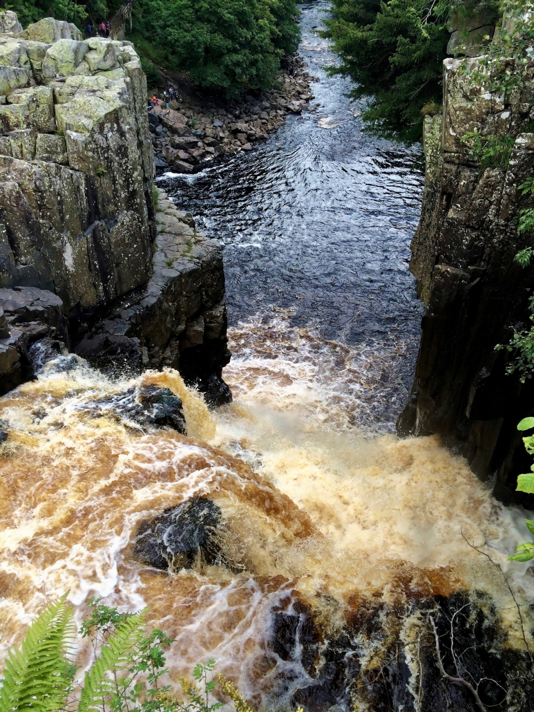 High Force waterfall from the top