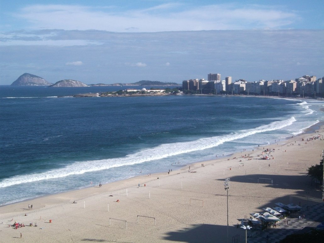 Copacabana beach attracts many international tourists