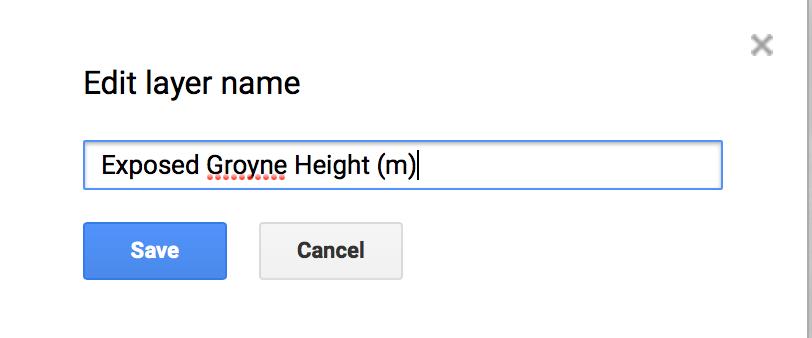 Exposed groyne height