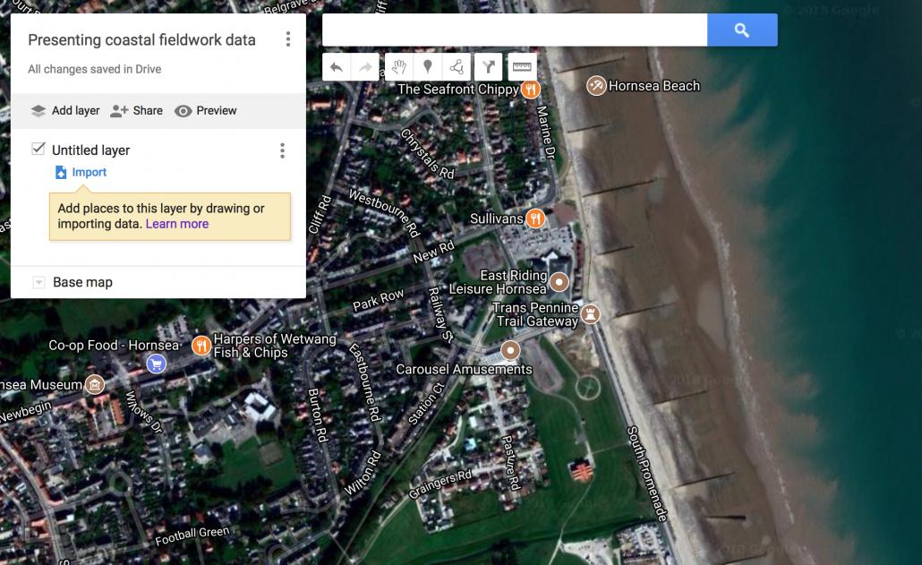 Satellite base map view
