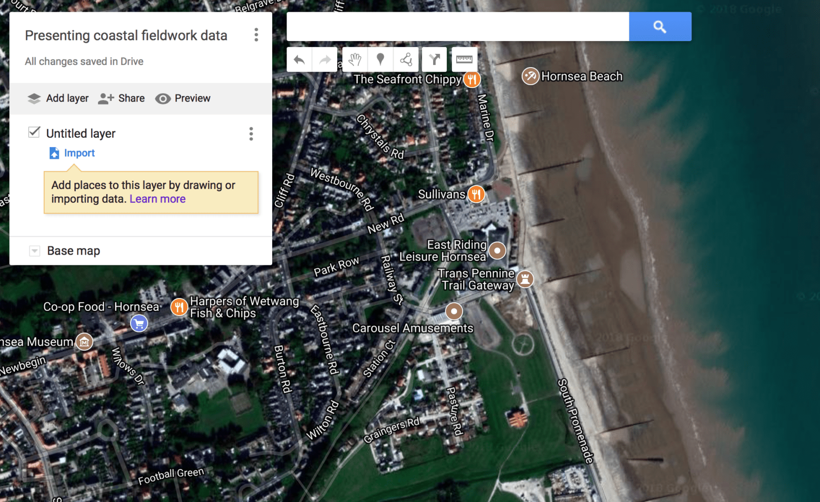 How Can Coastal Fieldwork Data Be Presented On Google My