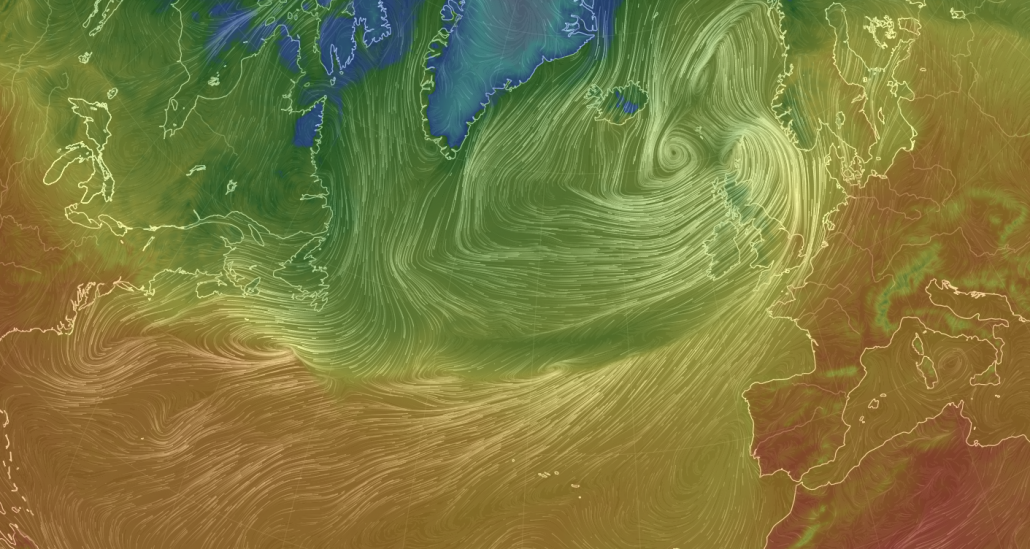 Storm Ali - Temperature