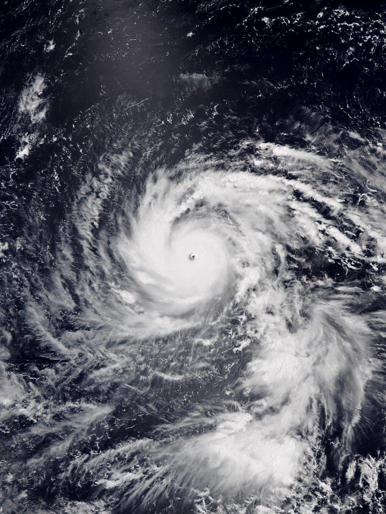 Typhoon Jebi satellite image