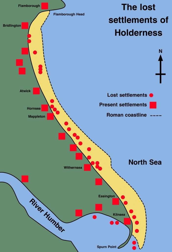 Lost settlements on the Holderness Coast