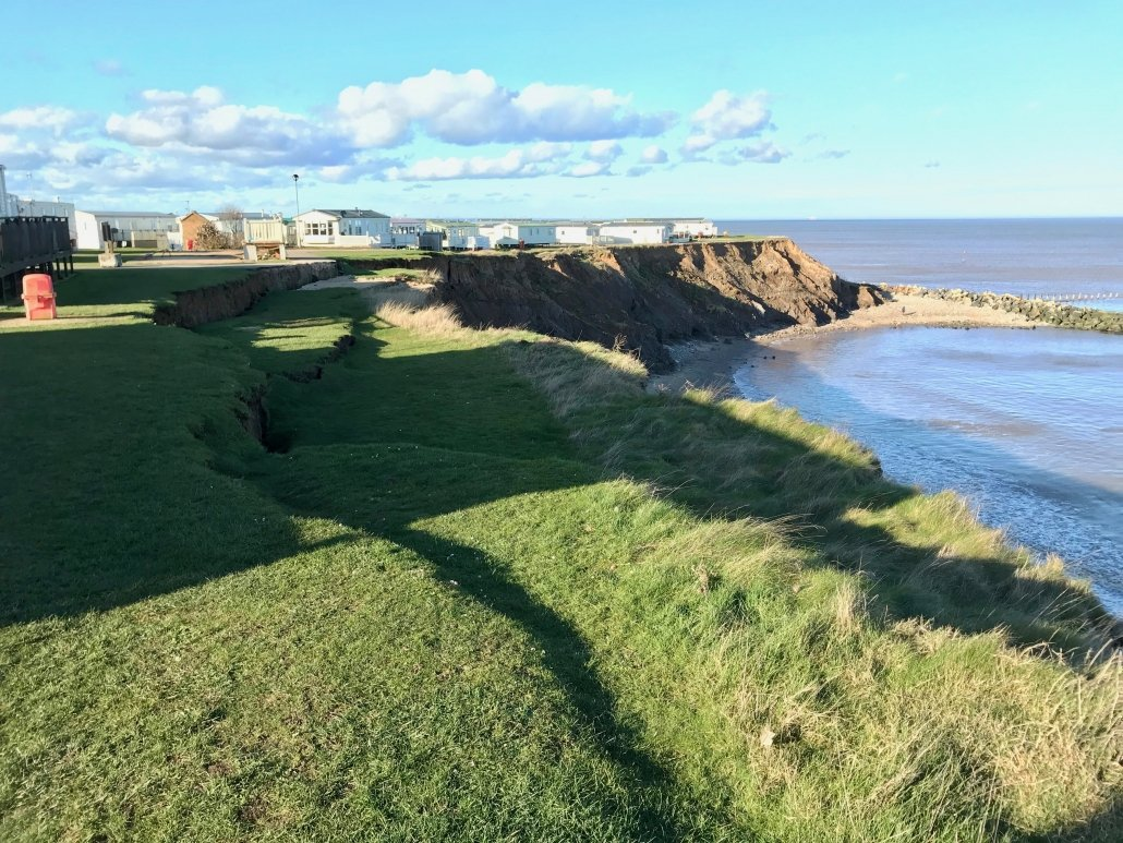 Mass movement at Hornsea on March 9th 2019