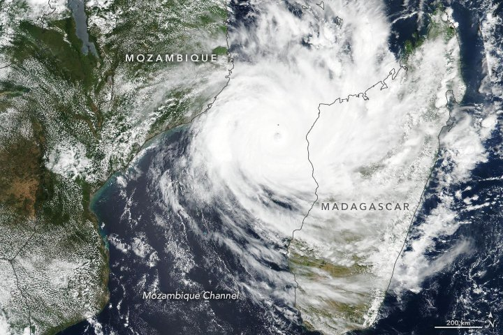 Cyclone Idai satellite image