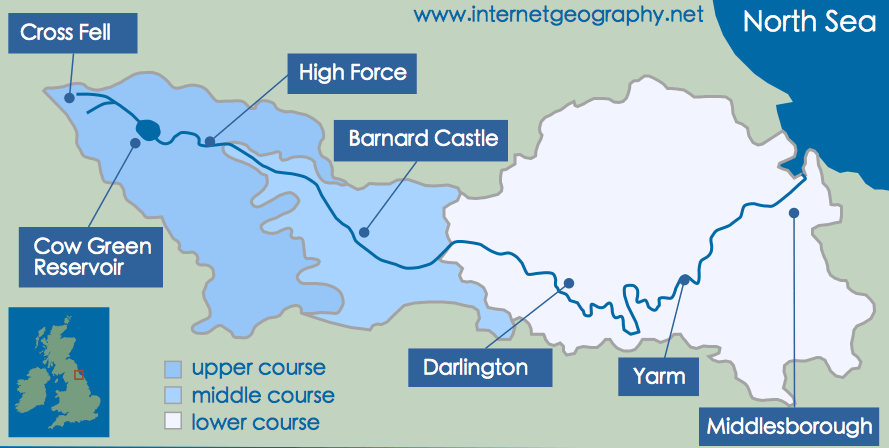 river tees case study landforms