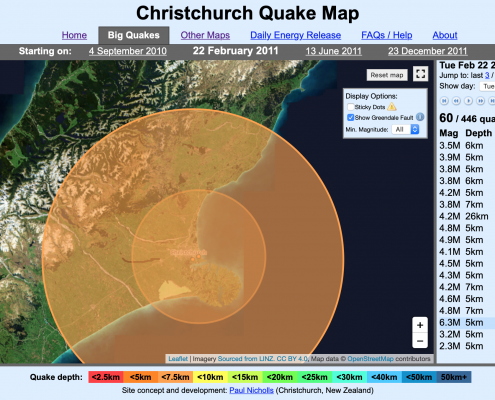 2011 Christchurch Earthquake Map