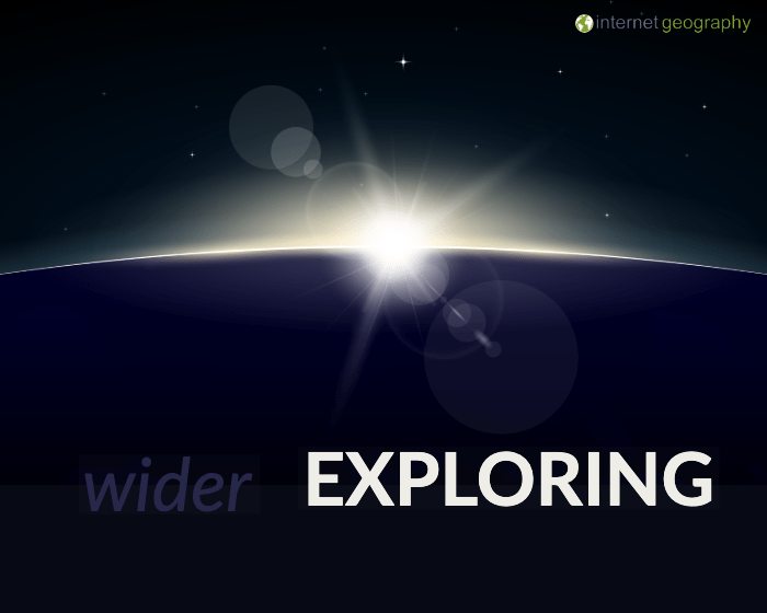 Wider exploring in geography
