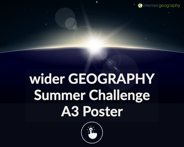 Wider geography summer challenge poster