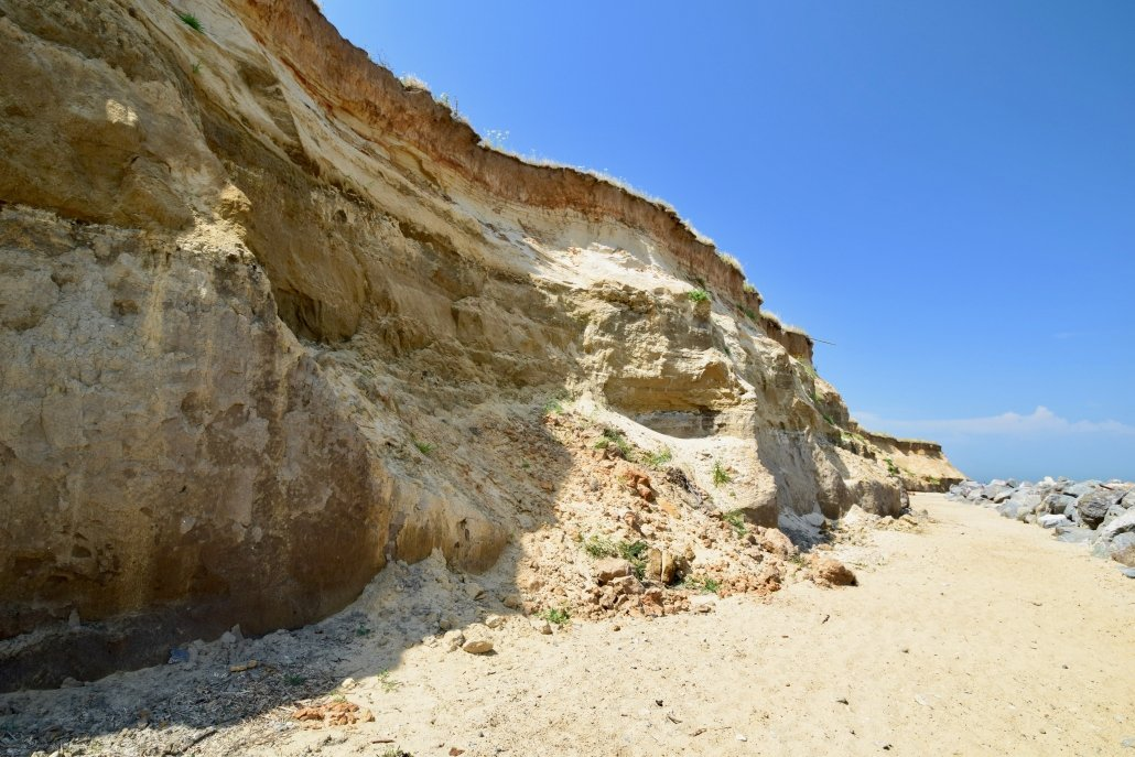 Cliff collapse at Happisburgh