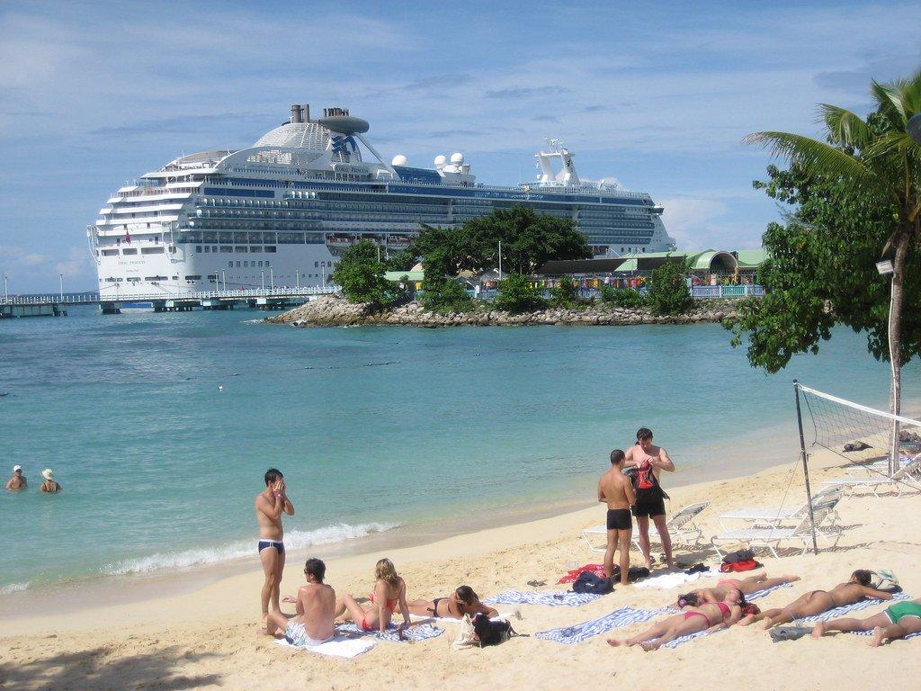 A cruise ship in Jamaica