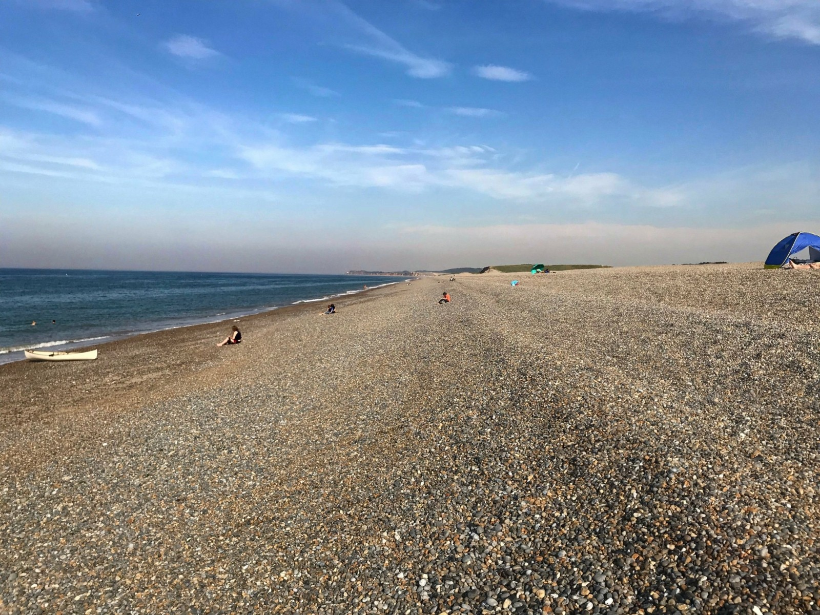 Salthouse Beach - a steep shingle beach with a series of berms.