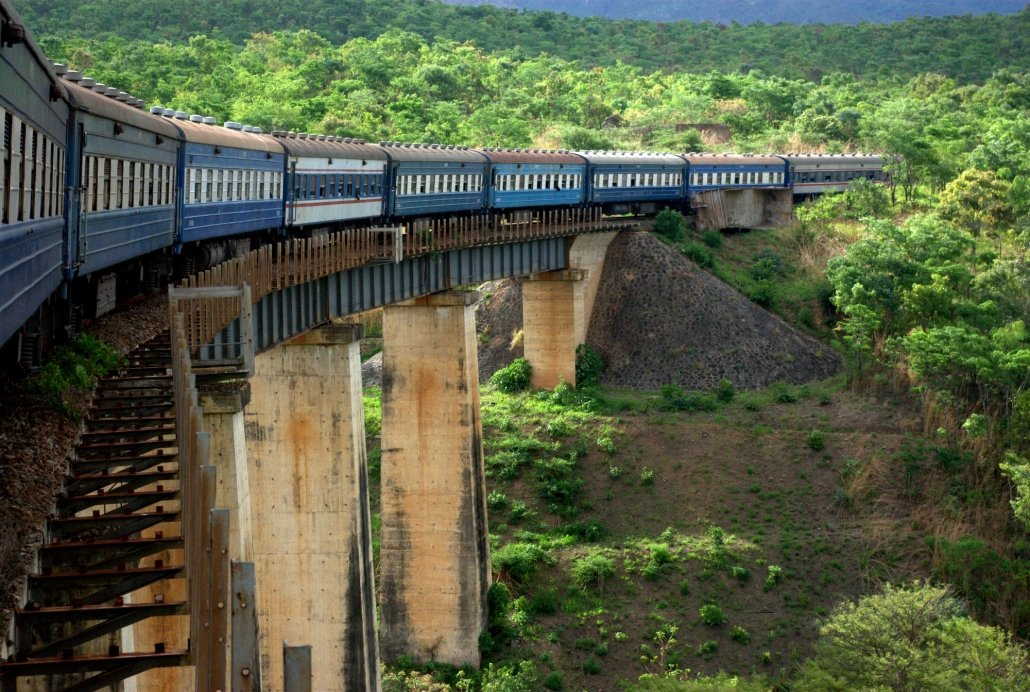 An image of the Tazara railway bridge