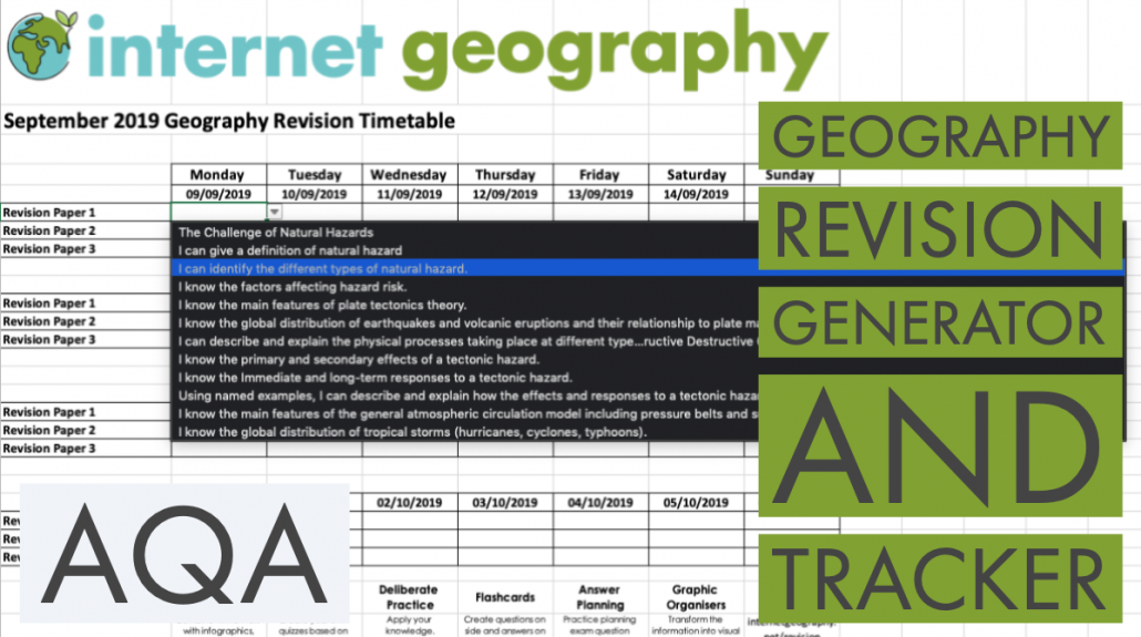 AQA Geography Revision Generator and Tracker