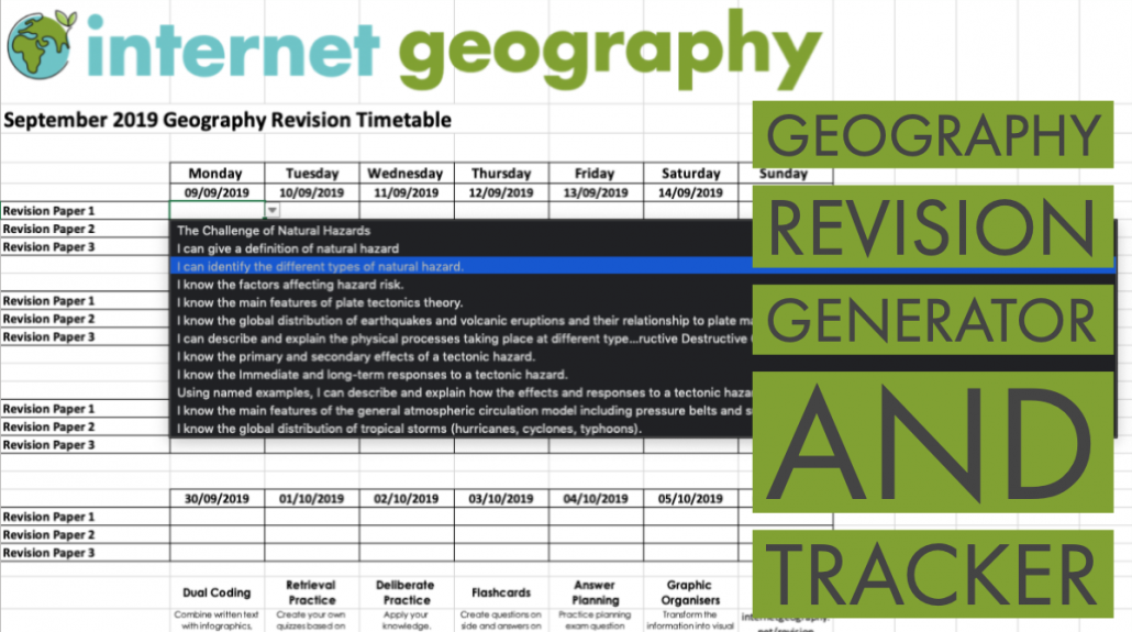 Geography Revision Generator and Tracker