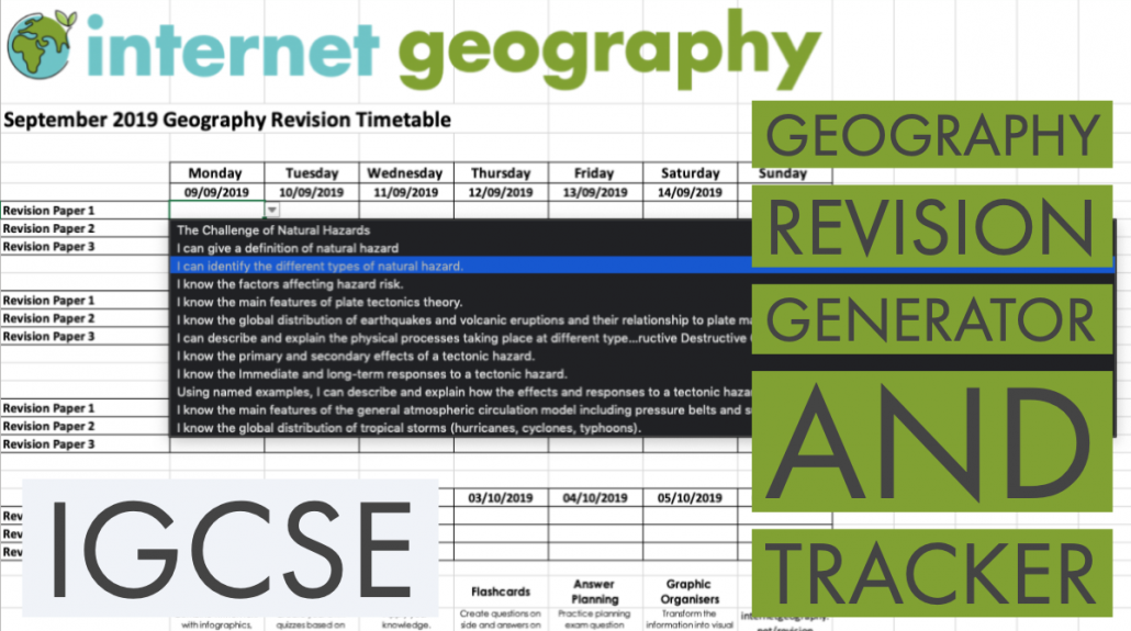 iGCSE Geography Revision Generator and Tracker