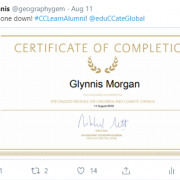 First UN Climate Change Accredited Teacher Certificate