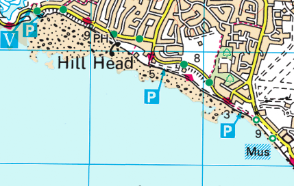 Hill Head OS Map