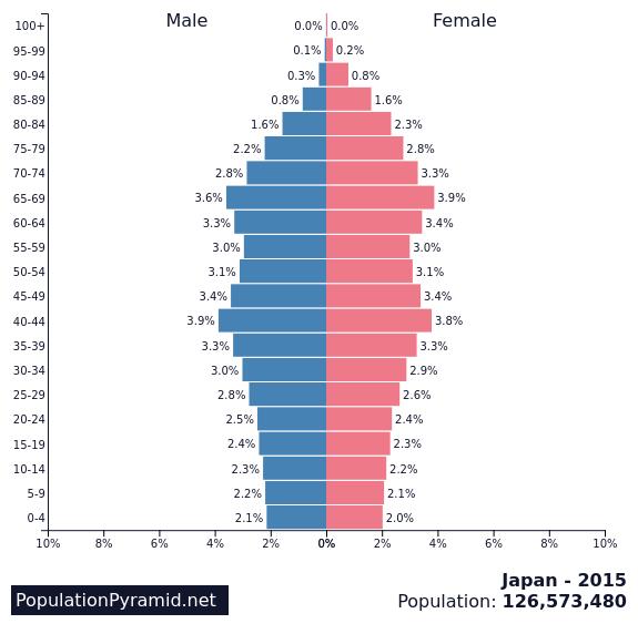 Japan's Population Pyramid