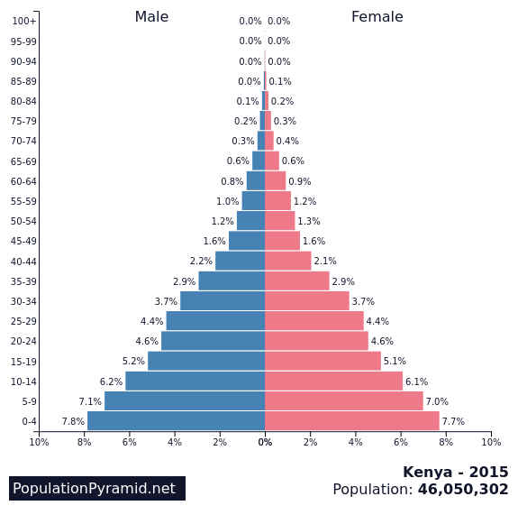 Population pyramid for Kenya