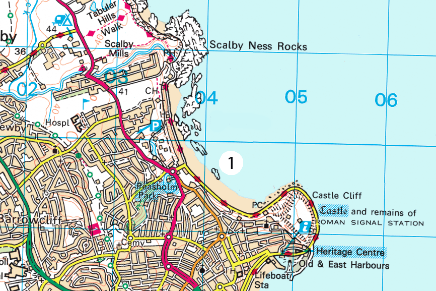 Scarborough OS Map