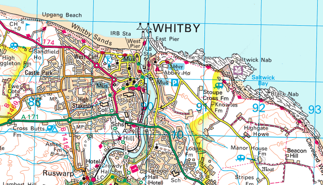 Whitby OS Map