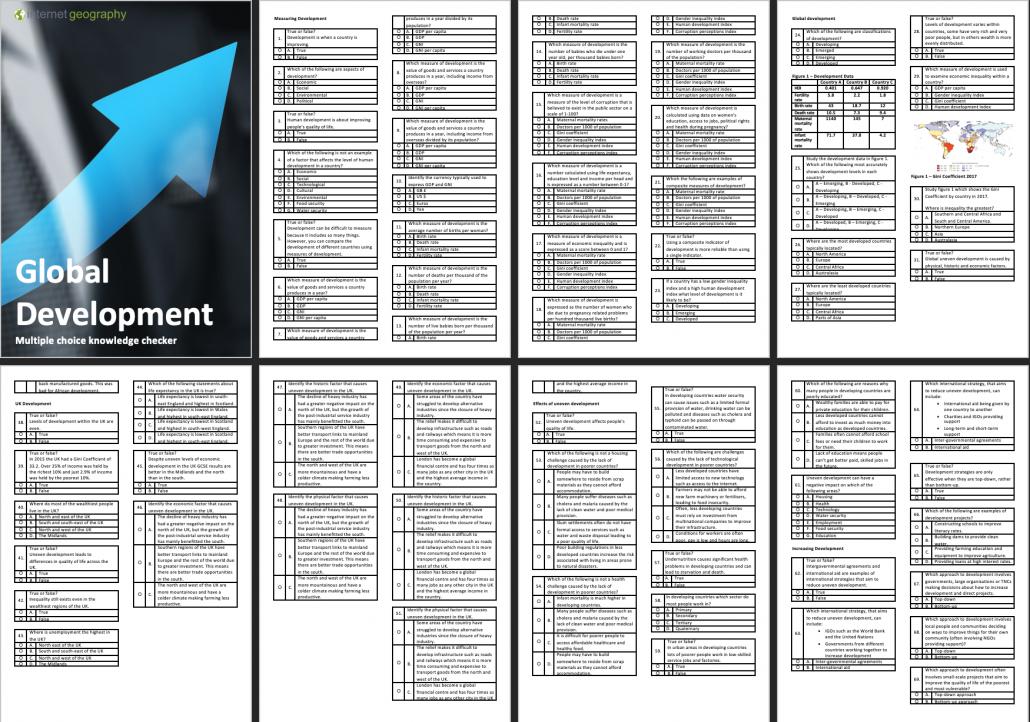 Exdecel A Global Development Multiple Choice Booklet