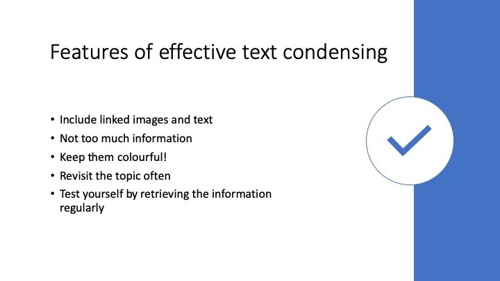 How to condense text 5