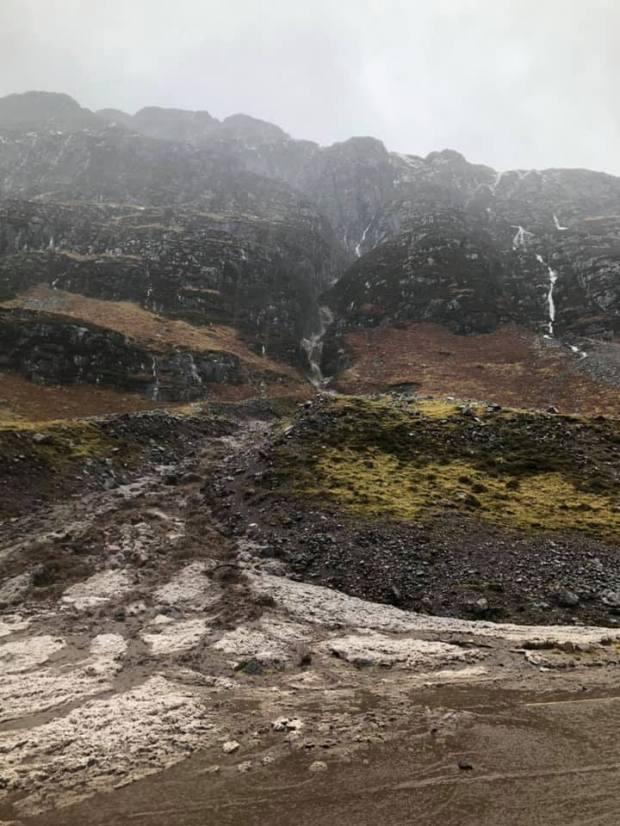 Landslide at Glencoe