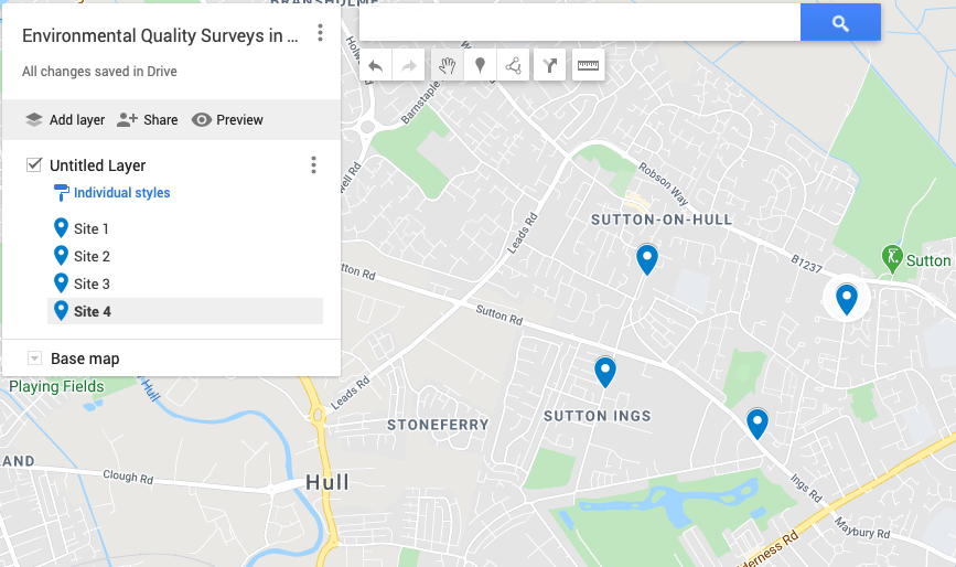 Identifying sites randomly